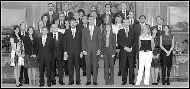 Dircom, La Asociación de Directivos de la Comunicación, cumple 20 años y es recibida por los Principes de Asturias.