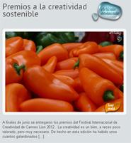Premios y sostenibilidad