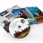 Diseño guía turística. Guía turismo deporte y gastronomía. Guía Viandante