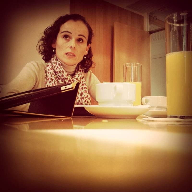 Susana García Dacal desayuna con empresas de Aetical en Salamanca. Estuvimos allí.