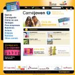 Diseño personalizado página web Carné Joven Europeo. Junta de Castilla y León