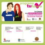 Campaña divulgativa. Díptico. Diputación de Salamanca. Programa tu futuro