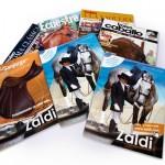 Revistas y catálogos de productos. Plan de comunicación Zaldi