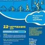 Semana Europea de la movilidad. Transporte sostenible. Cartel Salamanca sin mi coche.